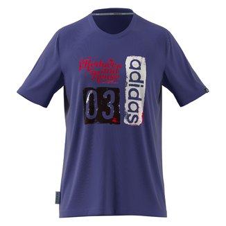 Camiseta Adidas Gráfica Run For The Oceans Masculina