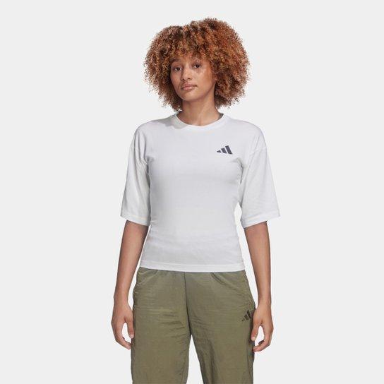Camiseta Adidas Graphic Tiger Manga 3/4 Feminina - Branco