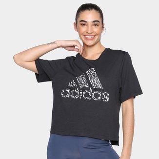 Camiseta Adidas Leopard Feminina
