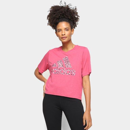 Camiseta Adidas Leopard Feminina - Rosa