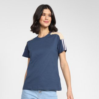 Camiseta Adidas Linear Color Block Feminina