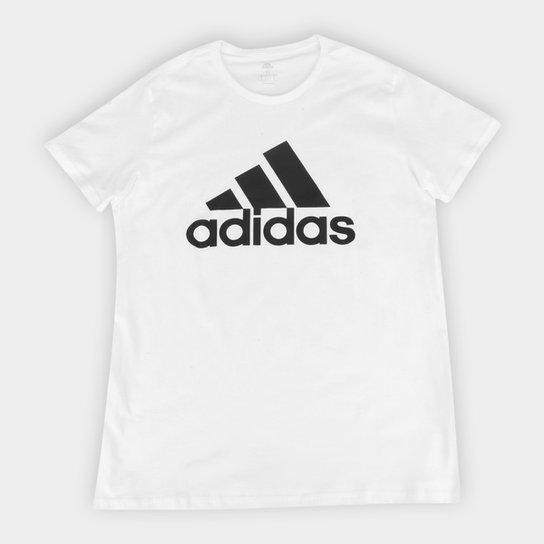 Camiseta Adidas Logo Feminina - Branco