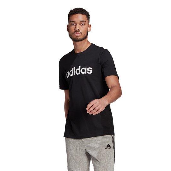 Camiseta Adidas Logo Linear Masculina - Preto