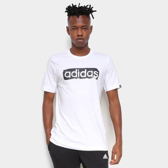 Camiseta Adidas Logo Linear Masculina - Branco