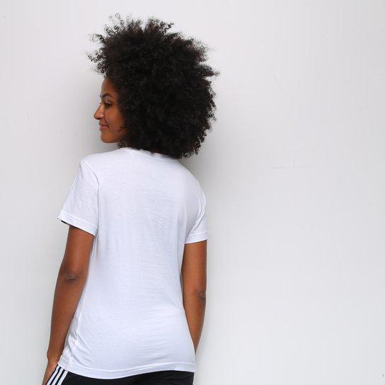 Camiseta Adidas Logo Vazado Floral Feminina - Gelo