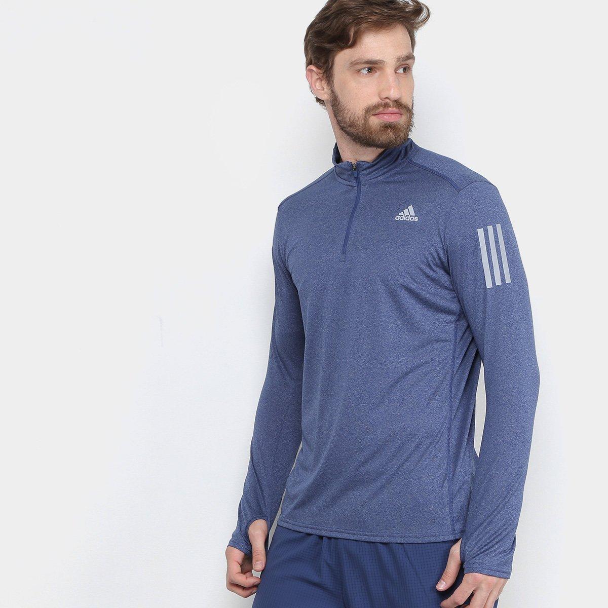 37d3dc04719 Camiseta Adidas Manga Longa Rs Ls Zip Masculina - Compre Agora
