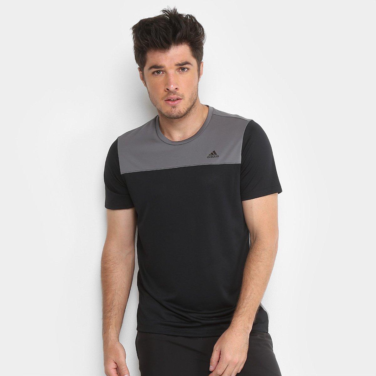 8c087765f Camiseta Adidas New Breath Masculina - Preto - Compre Agora