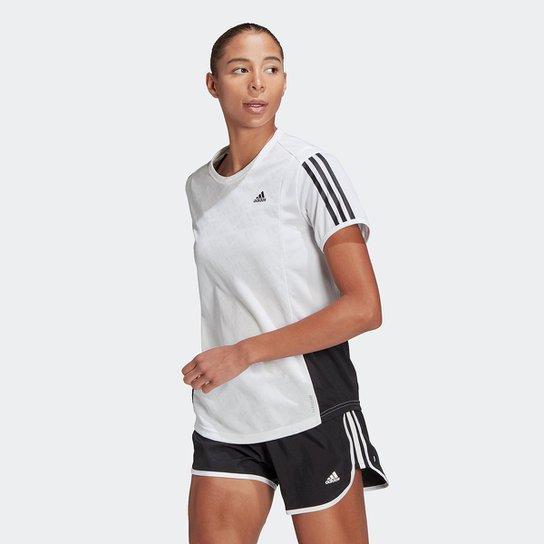 Camiseta Adidas Otr 3 Stripes Feminina - Branco+Preto