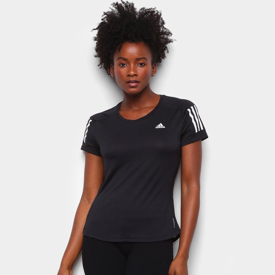 Camiseta Adidas Own The Run Cool Feminina - Preto
