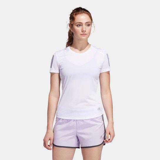 Camiseta Adidas Own The Run Feminina - Branco