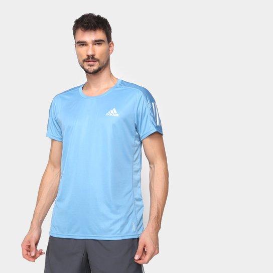 Camiseta Adidas Own The Run Masculina - Azul