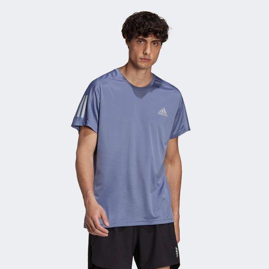 Camiseta Adidas Own The Run Masculina - Azul Turquesa