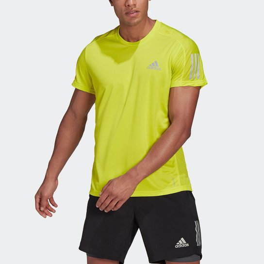 Camiseta Adidas Own The Run Masculina - Amarelo