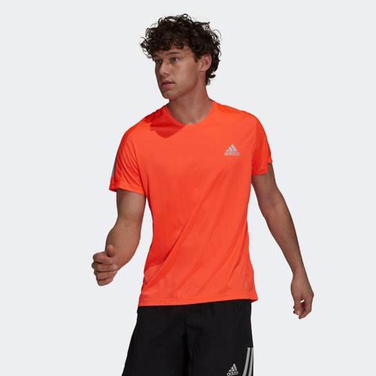 Camiseta Adidas Own The Run Masculina - Laranja