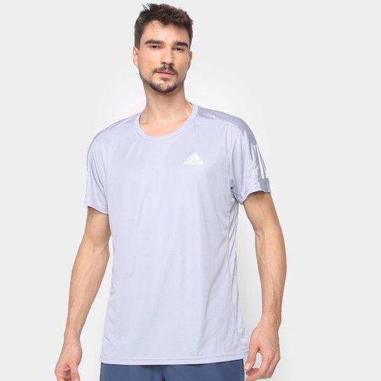 Camiseta Adidas Own The Run Masculina - Prata