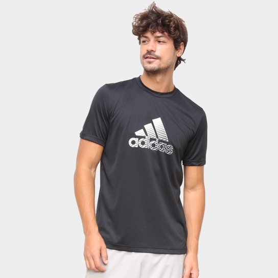 Camiseta Adidas Performance D2M Innovation Masculina - Preto+Cinza