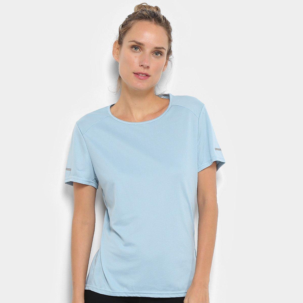 8e41906d90b43 Camiseta Adidas Run Feminina - Azul Claro - Compre Agora