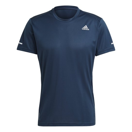 Camiseta Adidas Run It Masculina - Azul