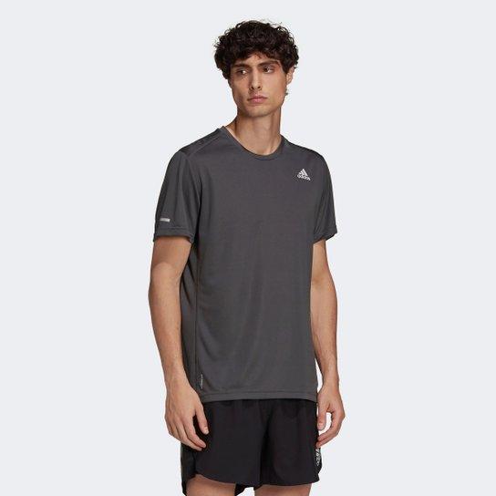 Camiseta Adidas Run It Masculina - Cinza
