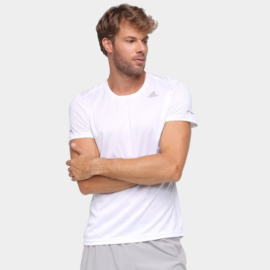 Camiseta Adidas Run It Masculina - Branco