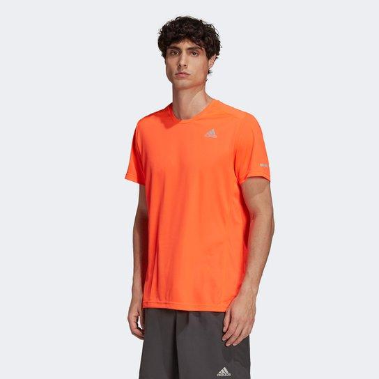 Camiseta Adidas Run It Masculina - Laranja Escuro