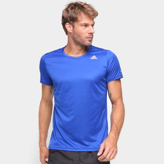 Camiseta Adidas Run It Masculina - Azul Turquesa