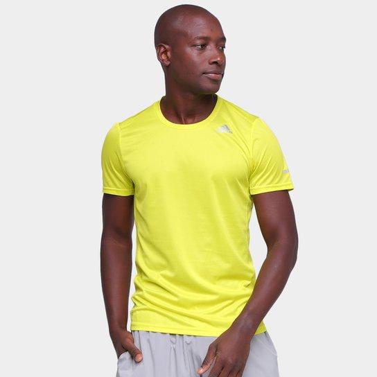 Camiseta Adidas Run It Masculina - Amarelo