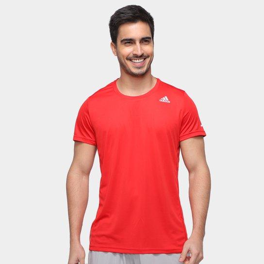 Camiseta Adidas Run It Masculina - Vermelho+Preto