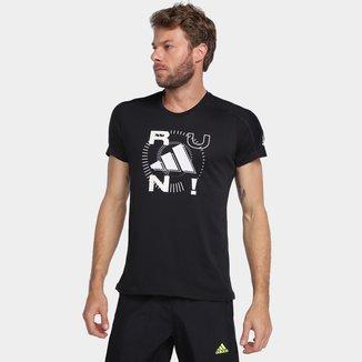 Camiseta Adidas Run Logo Slim  Masculina