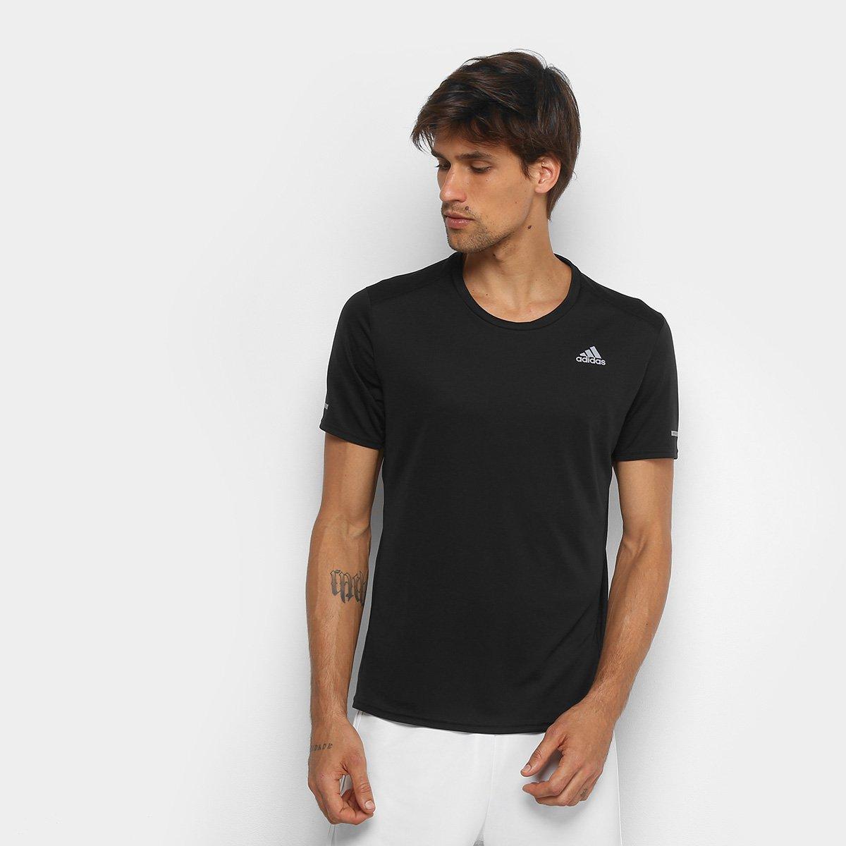 f2dc50e082f Camiseta Adidas Run Masculina - Preto - Compre Agora