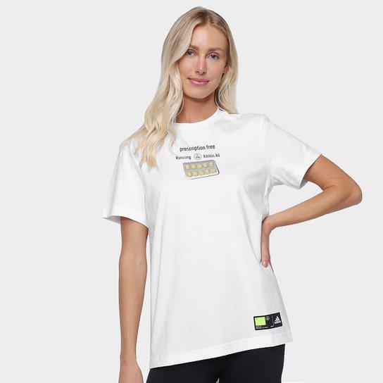 Camiseta Adidas Side Effects Feminina - Branco