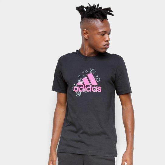 Camiseta Adidas Smile Masculina - Preto