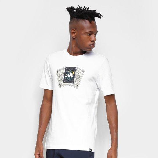 Camiseta Adidas Tarot Masculina - Branco