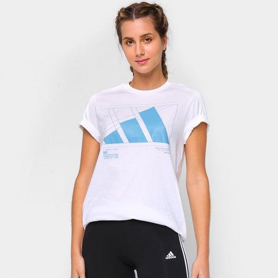Camiseta Adidas Tech Gráfica Feminina - Branco