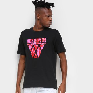 Camiseta Adidas Three Stripe Life Hoops Masculina