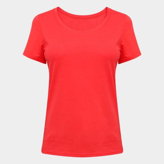 Camiseta Blanks São Paulo Feminina - Vermelho