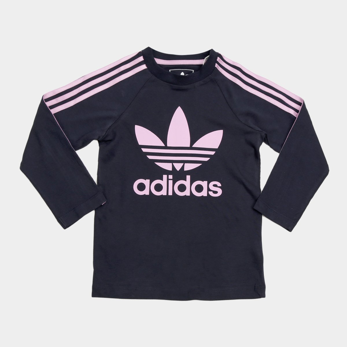f82703284c6 Camiseta Infantil Adidas 3 Stripes Ls Manga Longa Feminina - Compre Agora