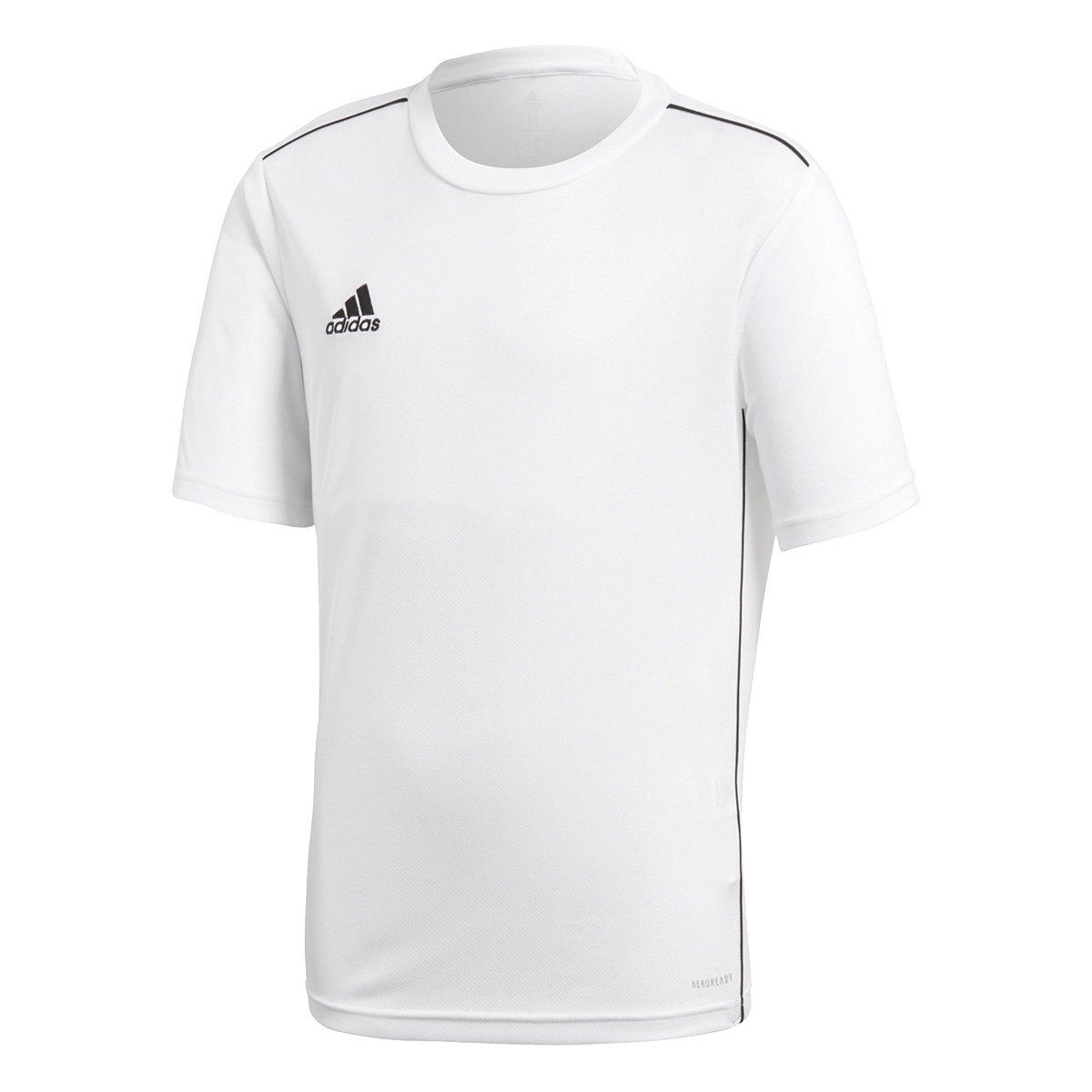 701da0755aa Camiseta Infantil Adidas Core 18 - Branco e Preto - Compre Agora ...