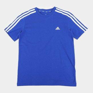 Camiseta Infantil Adidas Essentials 3 Stripes Masculina
