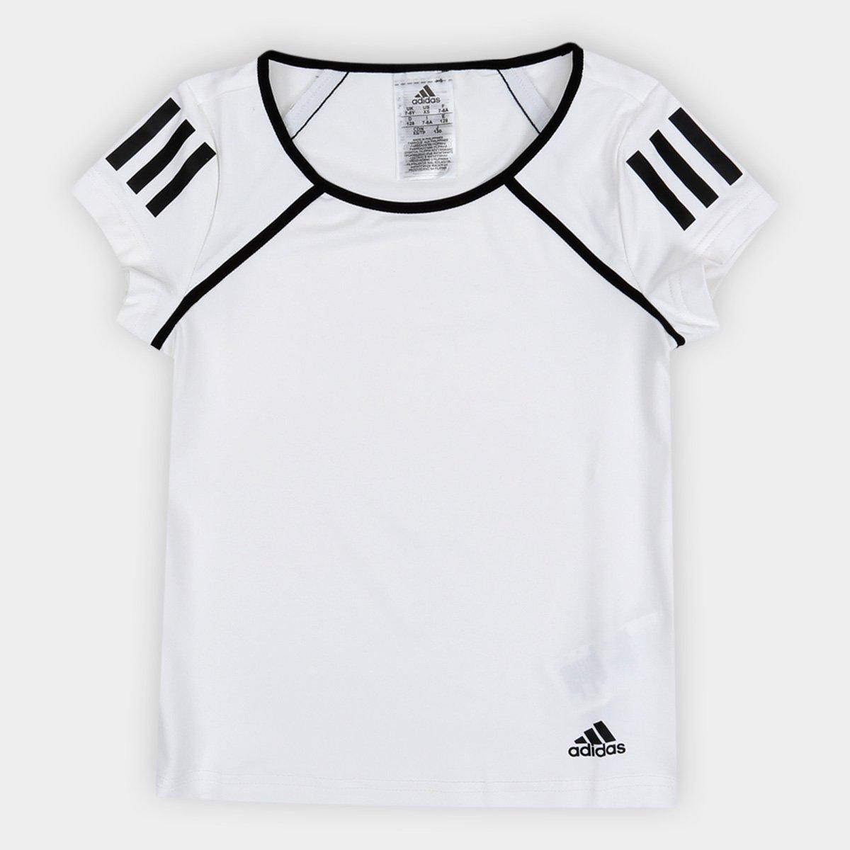 990bbee2730 Camiseta Infantil Adidas G Club Proteção UV Feminina - Branco - Compre  Agora