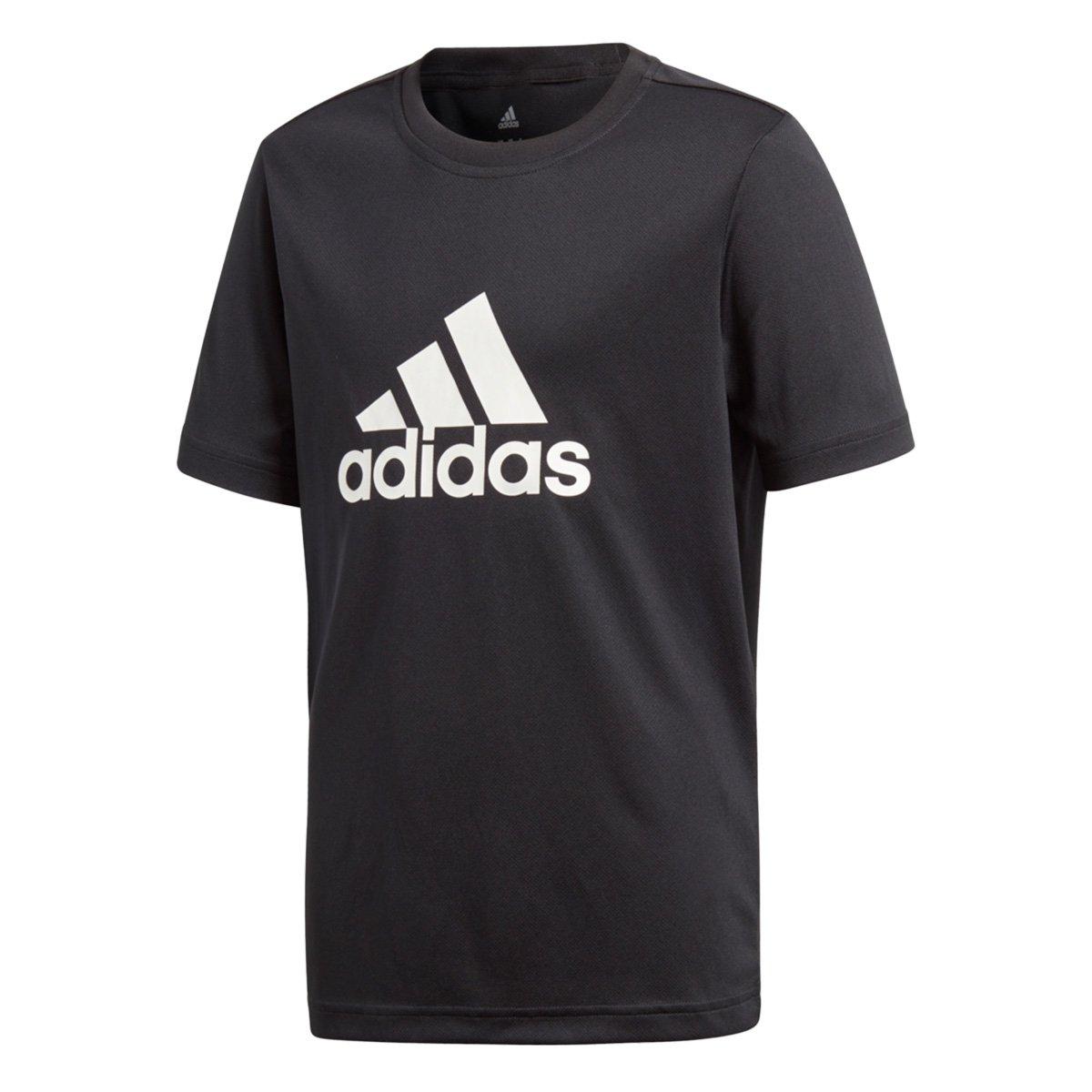46005ca64c6 Camiseta Infantil Adidas Yb Gu Masculina - Preto - Compre Agora ...