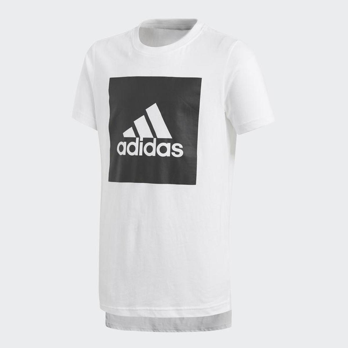 cc04ff5b9db Camiseta Infantil Adidas Yb Logo Masculina - Preto e Branco - Compre Agora