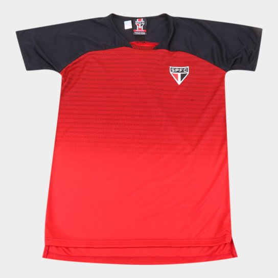 Camiseta Infantil São Paulo Shadow - Vermelho+Preto