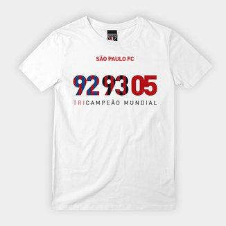 Camiseta Infantil São Paulo Tri Mundial