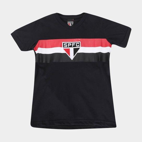 Camiseta Infantil São Paulo V - Preto