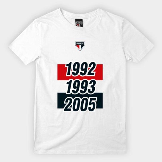 Camiseta Infantil SPFC Tri 92 93 05 - Branco