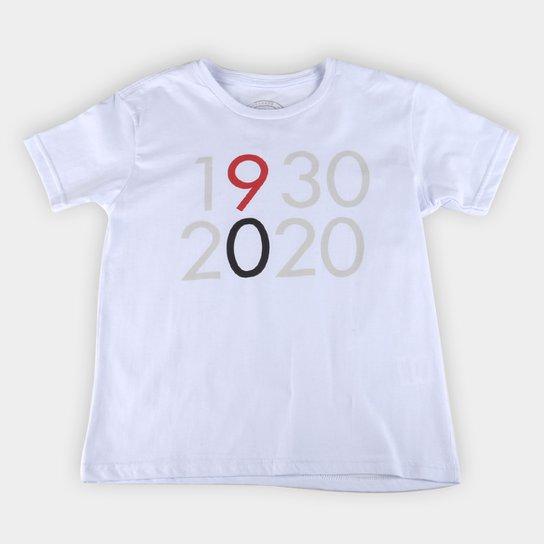 Camiseta Juvenil São Paulo 1930-2020 - Branco