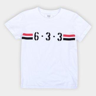 Camiseta Juvenil São Paulo 6-3-3 Retrô Mania