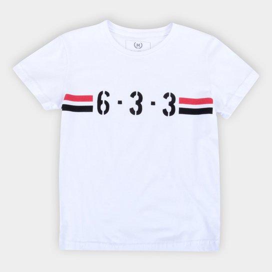 Camiseta Juvenil São Paulo 6-3-3 Retrô Mania - Branco