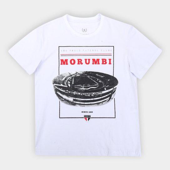 Camiseta Juvenil São Paulo Morumbi Retrô Mania - Branco